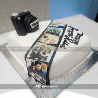 This single deck cake is specially baked for those people who are associated with movie making. Make such people more surprise with this delicious cake on their special day. If you would like to change the design in your own way, please provide your information and we will bake according to you. The cake can be delivered online, which is the best online cake delivery service in Kathmandu.   All cakes are baked with hygiene and quality in the top of our priority at our own state-of-the-art baking facility and quality checked twice by our expert QC team before delivery. You can send cakes or gifts to your loved ones in Nepal or shop online for yourself in Nepal with UG Bazaar, a pioneer in online shopping in Nepal.