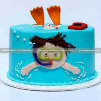 You know someone who loves the ocean and wants to see the world of the ocean? Well, now you can plunge into the scuba diving with this blue cake. The fondant cake is delicious as well as very creative. Enjoy every slice of it and feel the ocean world with an edible scuba diver. The cake can be delivered online, which is the best online cake delivery service in Kathmandu.   All cakes are baked with hygiene and quality in the top of our priority at our own state-of-the-art baking facility and quality checked twice by our expert QC team before delivery. You can send cakes or gifts to your loved ones in Nepal or shop online for yourself in Nepal with UG Bazaar, a pioneer in online shopping in Nepal.