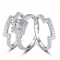 High Quality Fashion 95 Starling Silver Ring Set Limited Stock available at UG.   Pre-order your Ring now.  Free Home Delivery. Best product with best quality. Get this and make your and your love ones fingers look extra elegant.