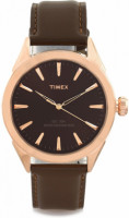 Dial Color: Brown, Case Shape: Round Band Color: Brown, Band Material: Leather Watch Movement Type: Quartz, Watch Display Type: Analog Case Material: Metal, Case Diameter: 35 millimeters Warranty type: Manufacturer; 1 Year Manufacturer Warranty