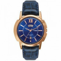 Dial Color: Blue, Case Shape: Round Band Color: Blue, Band Material: Leather Watch Movement Type: Quartz, Watch Display Type: Analog Case Material: Brass, Case Diameter: 44 millimeters Water Resistance Depth: 30 meters 1 year warranty