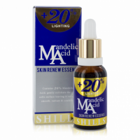 Shills +20% Mandelic Acid Skin Renew Essence is a potent blend to brighten, refine skin and fade discolouration. The powerful concentrate's key ingredient Mandelic acid has been proven to lighten hyper-pigmentation, scars and Melasma by up to 50% in only 4 weeks. The formula of Mandelic Acid and Vitamin E, work together to increase cell turnover and collagen for a youthful complexion. Use daily to start seeing results in 14 days.