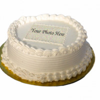 This is a sample design for a photo printed cake. The design will be changed to suit the print size and shape. Customize your own photo on this delicious cake for your special day. The cake can be delivered online, which is the best online cake delivery service in Kathmandu.   All cakes are baked with hygiene and quality in the top of our priority at our own state-of-the-art baking facility and quality checked twice by our expert QC team before delivery. You can send cakes or gifts to your loved ones in Nepal or shop online for yourself in Nepal with UG Bazaar, a pioneer in online shopping in Nepal.