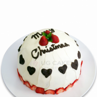Order this delicious single decker dome-shaped Christmas cake online with free home delivery if you are too scared to take the risk to carry it all the way to the venue.  All cakes are baked with hygiene and quality in top of our priority at our own state-of-the-art baking facility and quality checked twice by our expert QC team before delivery. You can send cakes or gifts to your loved ones in Nepal or shop online for yourself in Nepal with UG Bazaar, a pioneer in online shopping in Nepal.