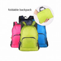 """Water resistant outer surface and breathable comfort lining. Foldable, portable, compact, light, easy and convenient to use.  Specifications: Material: Polyester Nylon Color: Blue, Green, Pink Size: 220*190 *20mm Weight:119g Capacity: 25 liters EASY TO FOLD AND STORAGE --- Folds out to 19.6"""" x 15.7"""" backpack IN SECONDS to carry more things; Folds into a 10.2"""" x 7.8"""" zipped pocket for better storage, which can make your life neat and tidy.  ULTRA-LIGHT --- It's weight of 0.45 pounds makes it PERFECT FOR weekend trip, picnic, school, shopping and traveling, etc. One backpack meet most of your needs, you deserve it! Also the BEST GIFT for your BOYS and GIRLS!  DURABLE AND PRACTICAL --- Made of High Quantity water-resistant Nylon providing strength and long-lasting performance. ANTISKID BREATHABLE MESH SHOULDER STRAPS with sponge padding help RELEASE the STRESS from your shoulder. Beside, the length of the shoulder straps is adjustable.  EASY TO CLEAN --- Besides hand-wash, MACHINE wash can be fine, then naturally air dry and you'll get a clean and tidy backpack."""