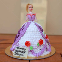 This beautiful barbie with extraordinary taste will blow your mind. She has a very elegant white and purple dress which is rich texture. The creamy flavors will burst in your mouth with every bite you take. This will definitely be the highlight of the princess's birthday party. The cake can be delivered online, which is the best online cake delivery service in Kathmandu.   All cakes are baked with hygiene and quality in the top of our priority at our own state-of-the-art baking facility and quality checked twice by our expert QC team before delivery. You can send cakes or gifts to your loved ones in Nepal or shop online for yourself in Nepal with UG Bazaar, a pioneer in online shopping in Nepal.