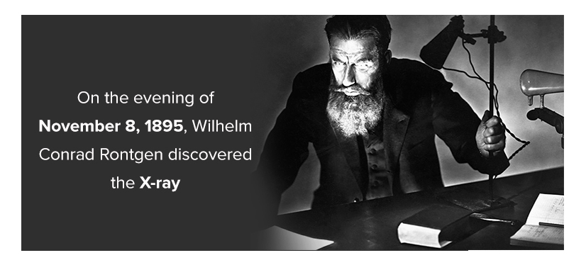 On the evening of November 8, 1895, Wilhelm Conrad Rontgen discovered the X-ray.