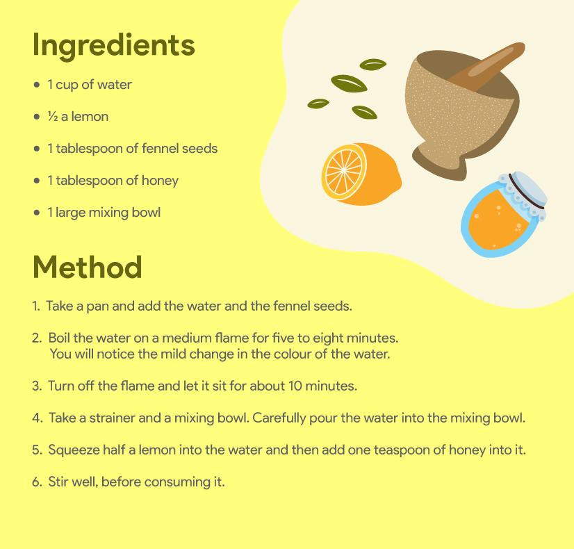 Fennel seeds homemade drink
