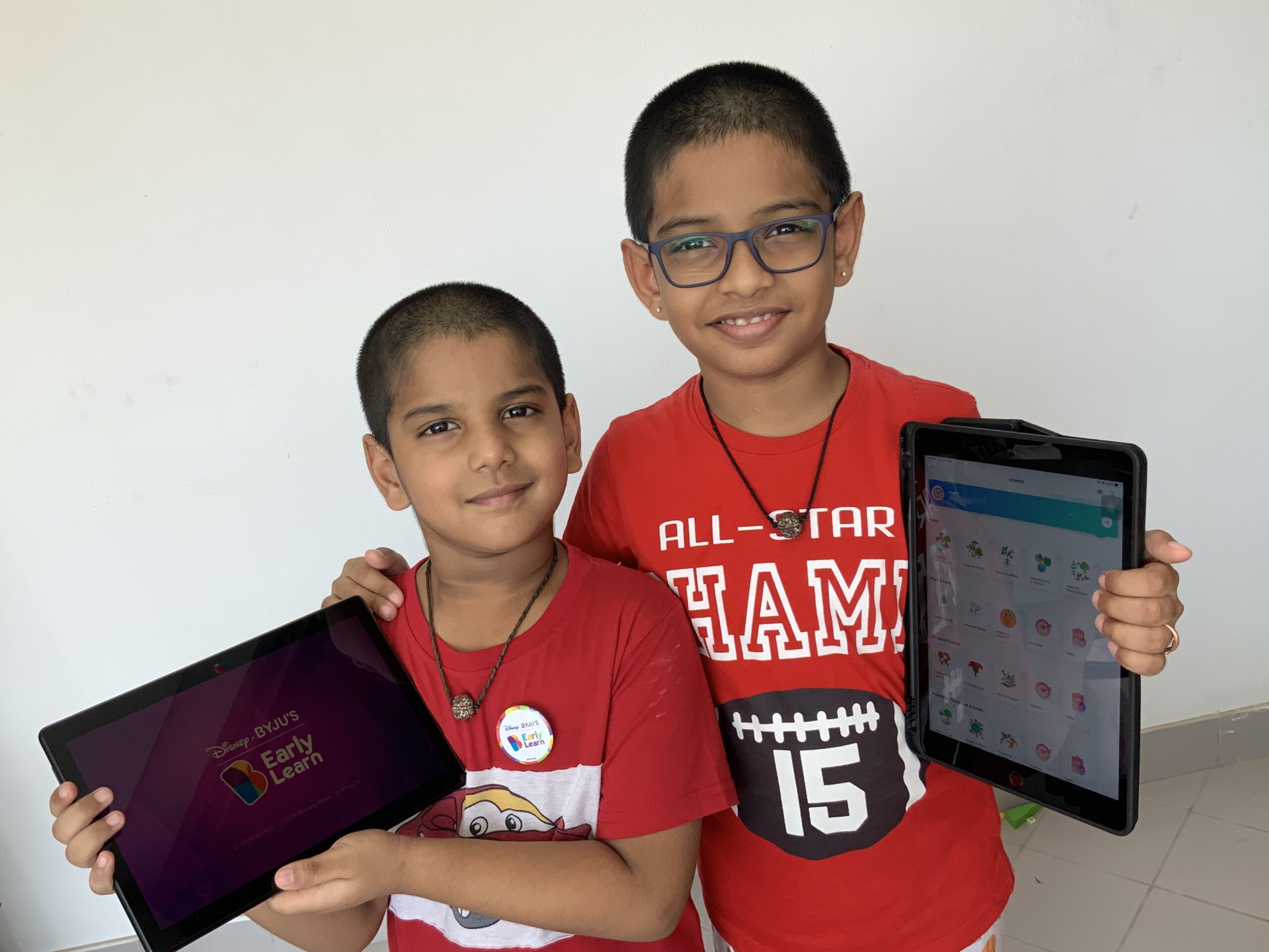 The Karthik brothers, Kulesha (6 years) and Mrithyunjai (9 years) loves studying form BYJU'S - The Learning App