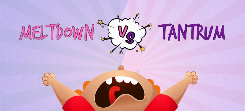 meltdown vs tantrum difference