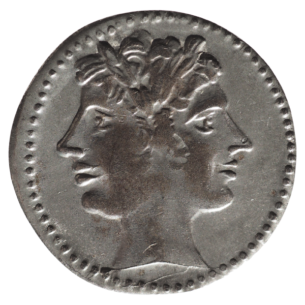 Janus on an ancient Roman coin. Image source: Shutterstock