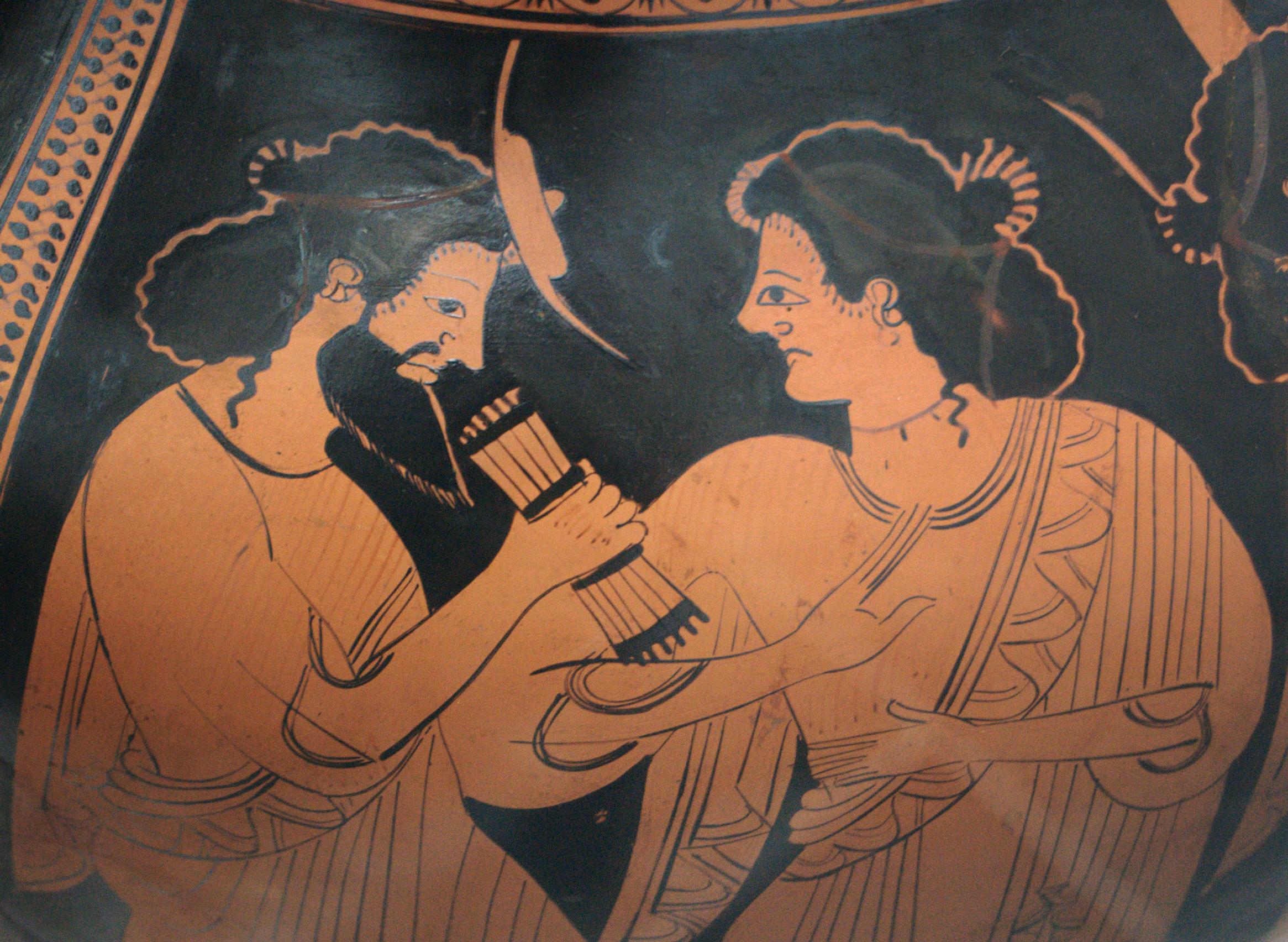 Image of Maia on Greek pottery. Image source: Wikimedia Commons