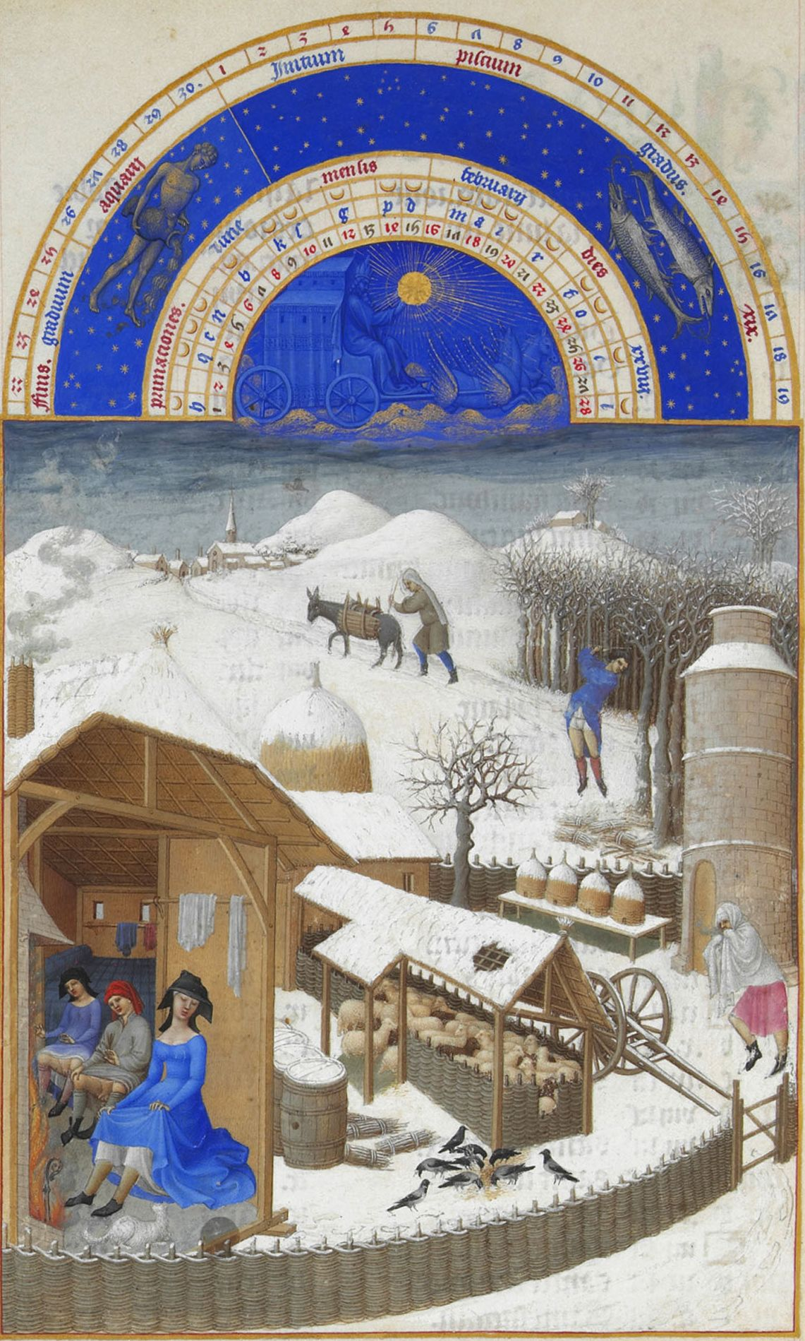 A European painting depicting the month of February. Image source: Wikimedia Commons