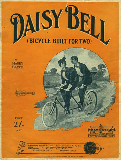 Poster of the song Daisy Bell, composed by Harry Dacre