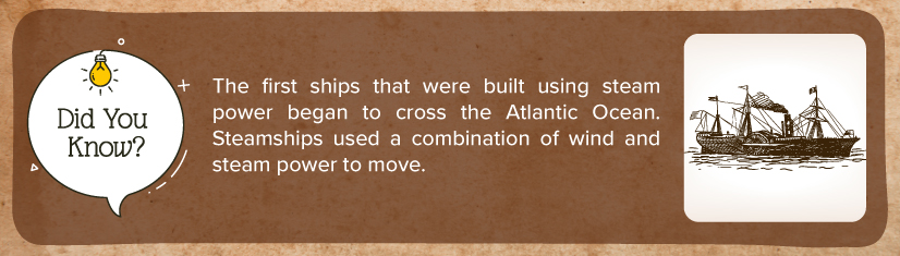 Origin of steam ships