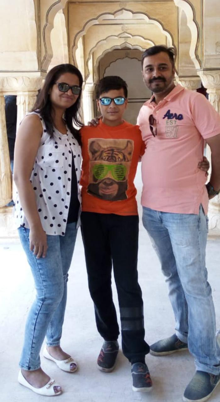BYJU'S student Dhruvil with his parents