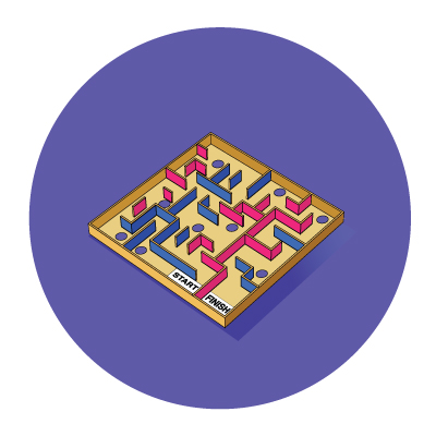 Step-by-step explaination of DIY marble maze