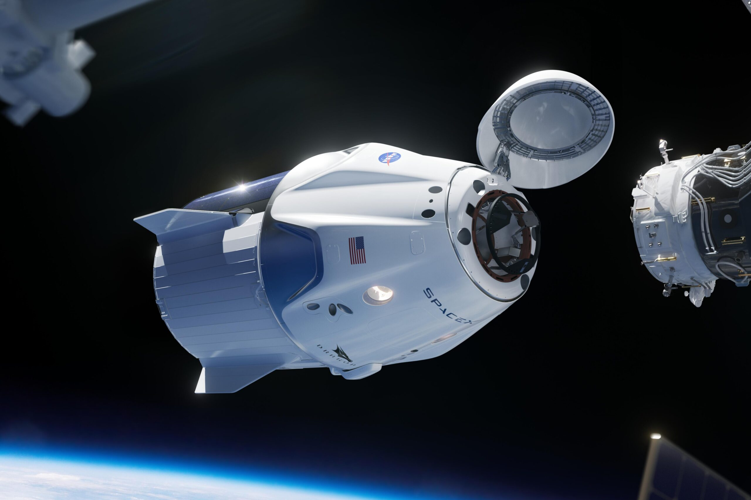 Crew Dragon, the spaceship from the 2020 SpaceX launch. Image source: Wikimedia Commons