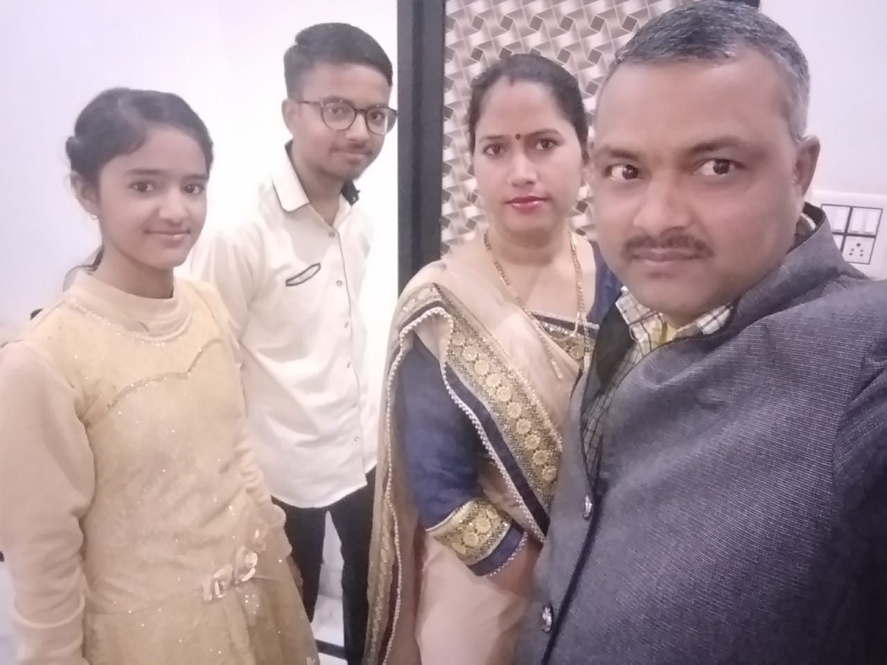 Mohit with his family
