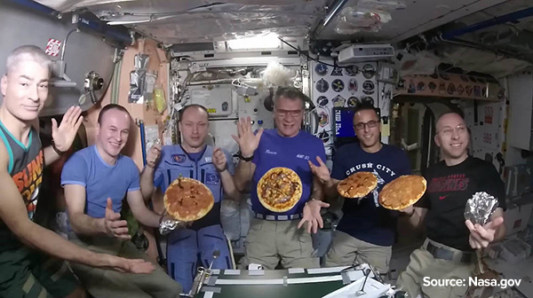 Pizza party by NASA Astronauts at the International Space Station was literally out of the world!
