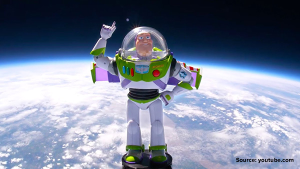 """Buzz Lightyear toy flew to the International Space Station in 2008 through an educational initiative developed by NASA with Disney Pixar, as part of NASA's broader """"Toys in Space"""" project"""