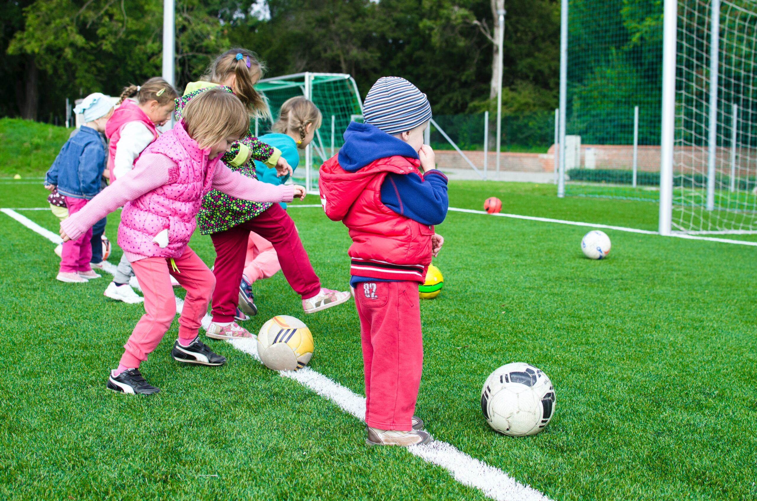 Learn teamwork by playing football