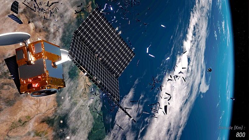 Hundreds of satellites break up in orbit, creating space debris. Image Source: ESA