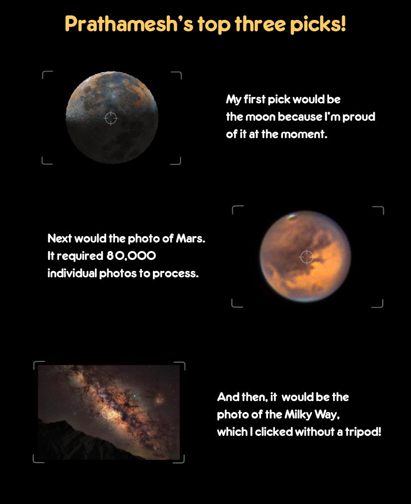 Prathamesh picks his three top photos!