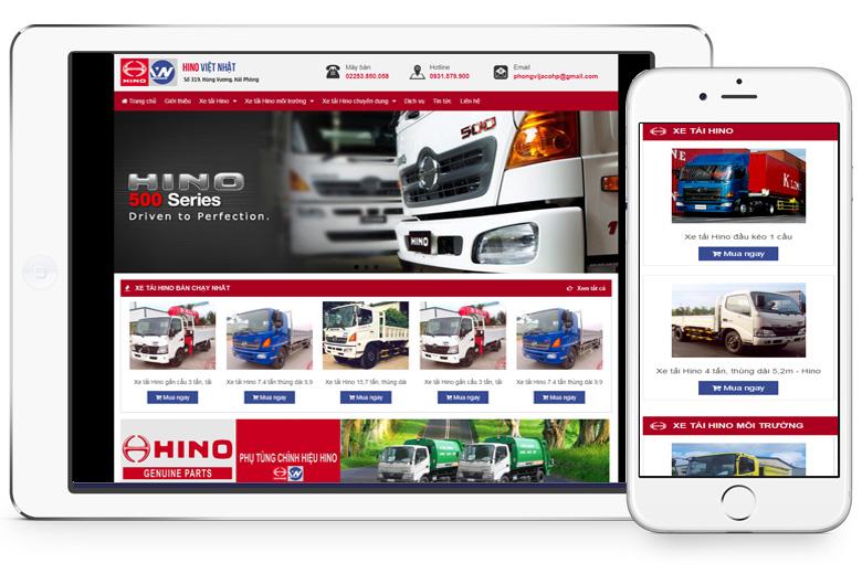 thiết kế website ô tô Đà Nẵng