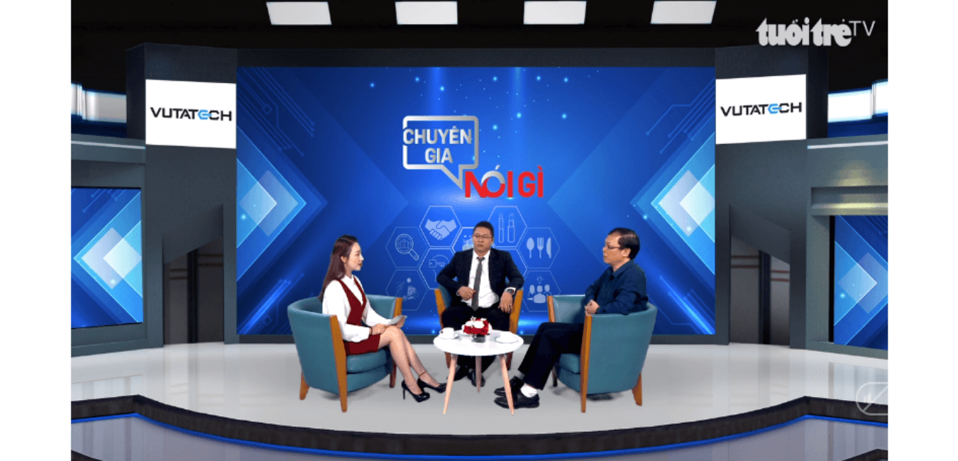 "Talkshow ""Chuyên gia nói gì"" from Tuổi Trẻ News talk about Blockchain Technology with CEO Vutatech & Dr. Dang Minh Tuan"