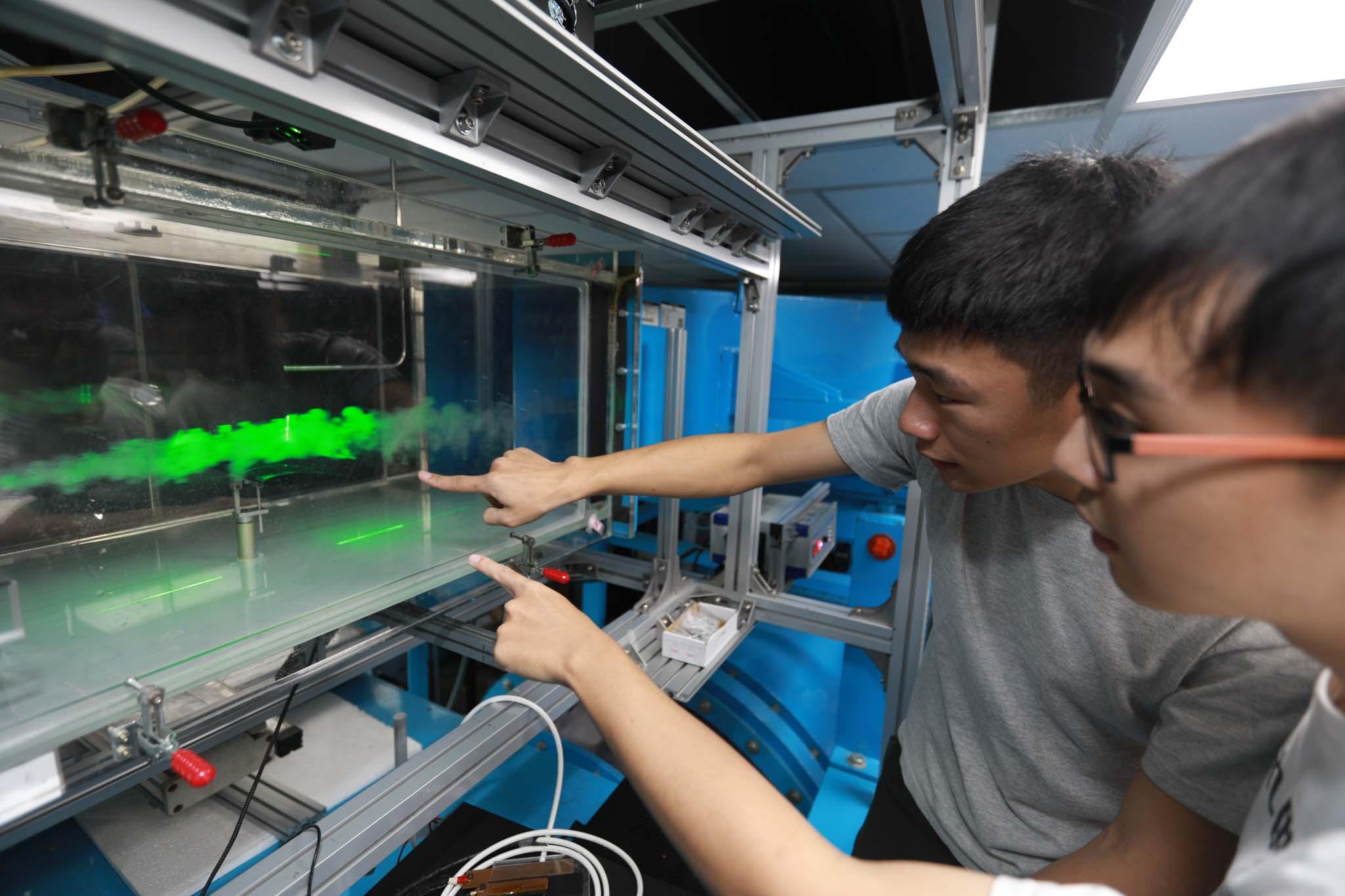 逢甲大學航太與系統工程學系風洞實驗室