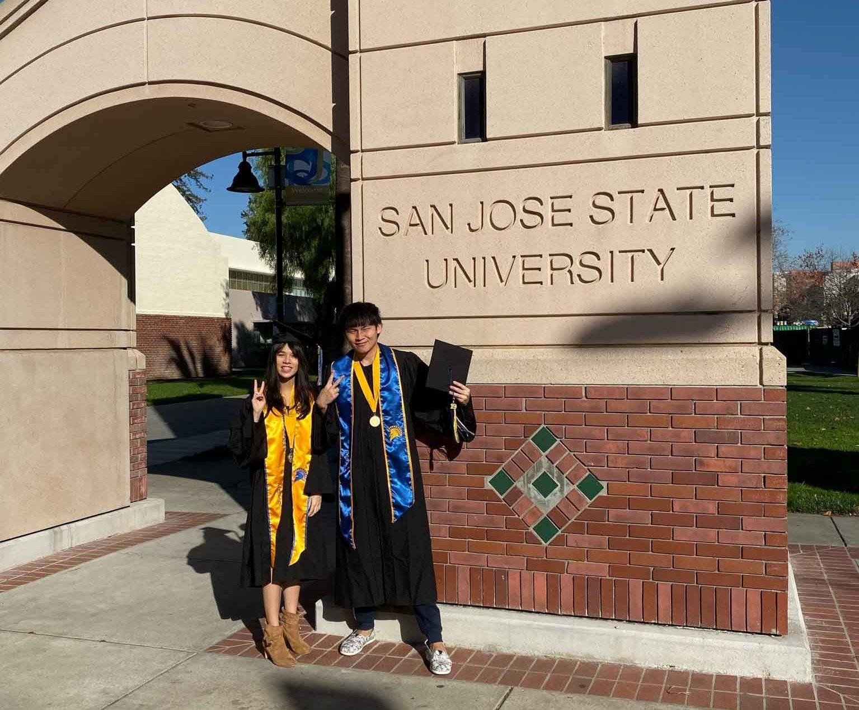 提前一學期從San Jose State University 畢業