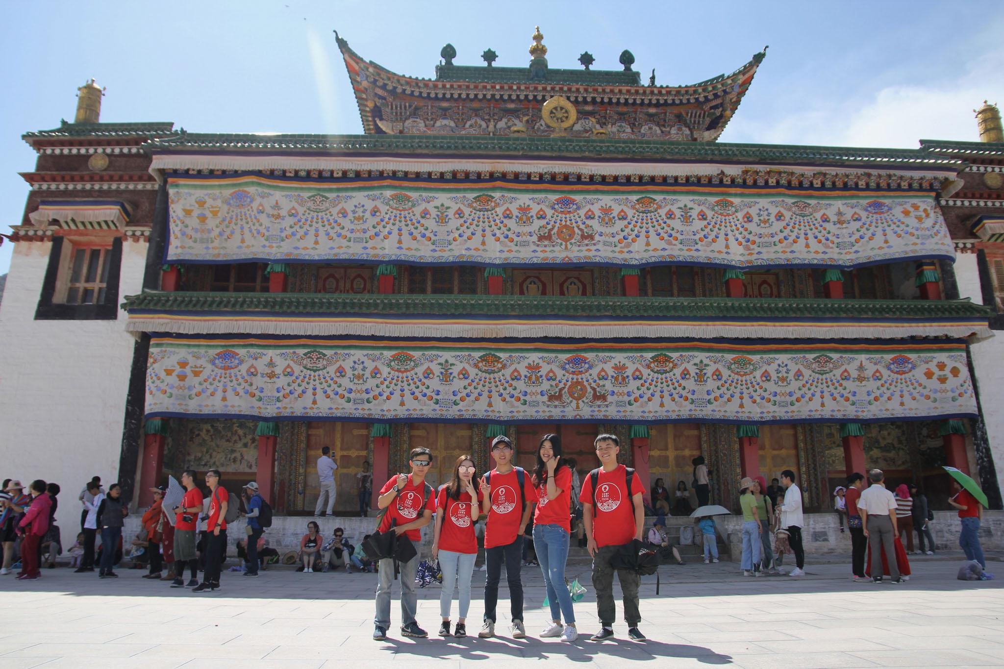 位於中國甘肅富有藏傳佛教傳統文化的「拉卜楞寺」