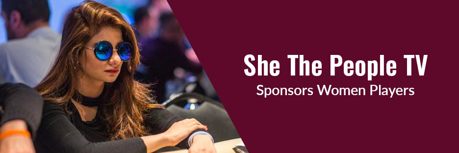 She The People Tv : Indian Poker Company Sponsors Women PlayersBanner