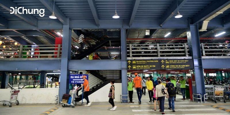 gửi xe máy ở sân bay Tân Sơn Nhất 3