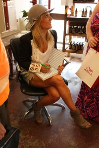 natalie signing book