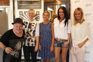 Pavlos, Lyndal Salmon with Natalie Hunter, Kate Neilson and Alex Fevola