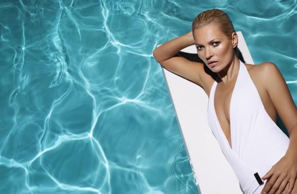 white swim suit low
