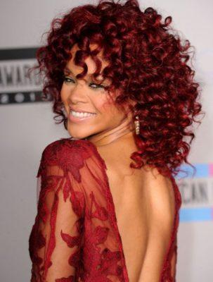rihanna-red-curly-hair