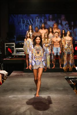 A model showcases designs by XXX on the runway at the David Jones Spring/Summer 2015 Fashion Launch at David Jones Elizabeth Street Store on August 5, 2015 in Sydney, Australia.