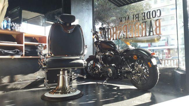 Code Black Barbershop Interior 2