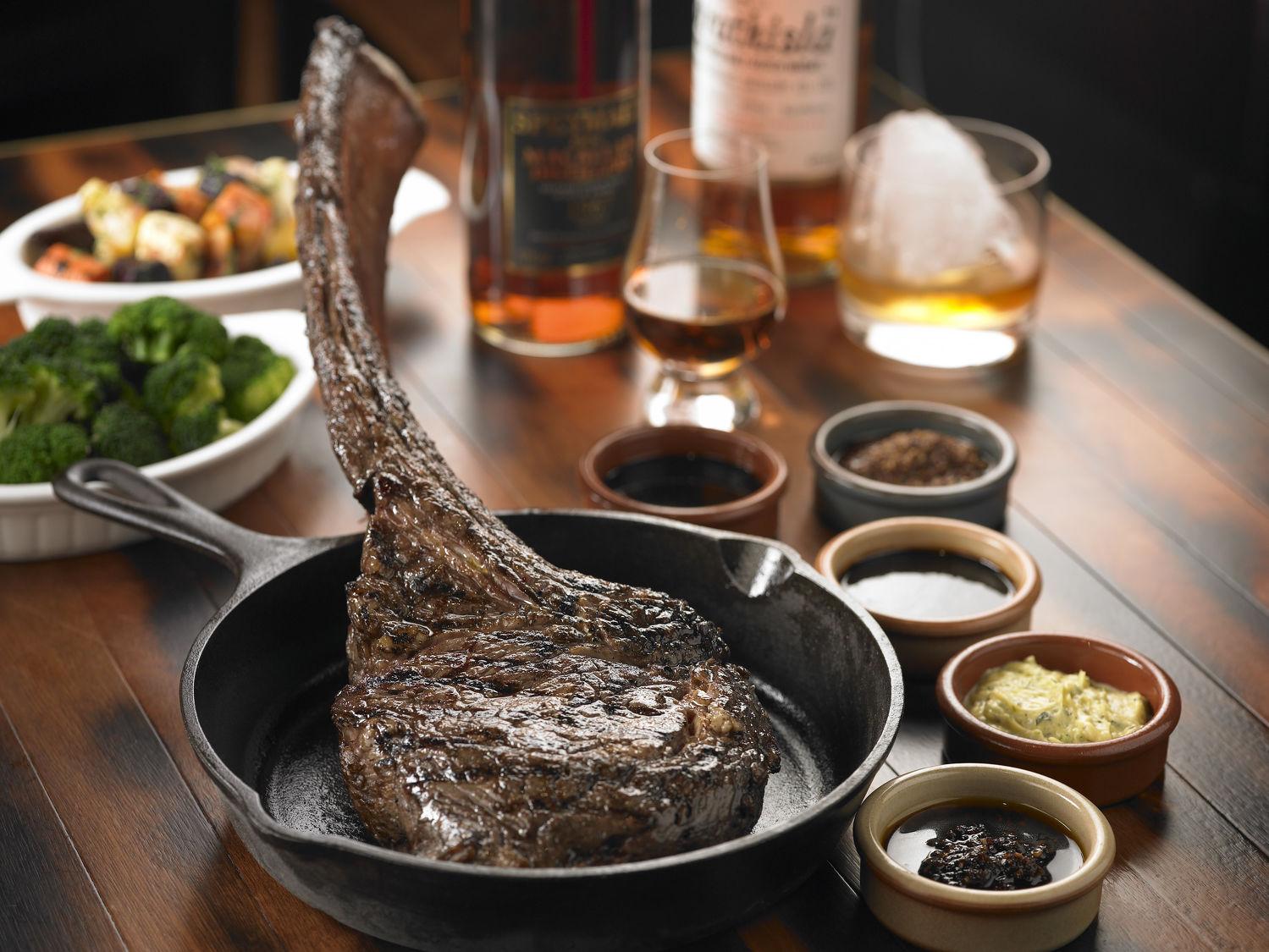Bedrock Bar Grill Tomahawk Steak - THE EDGE SINGAPORE