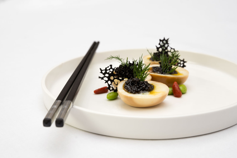 ImperialTreasure Soft Boiled Egg with Caviar - THE EDGE SINGAPORE
