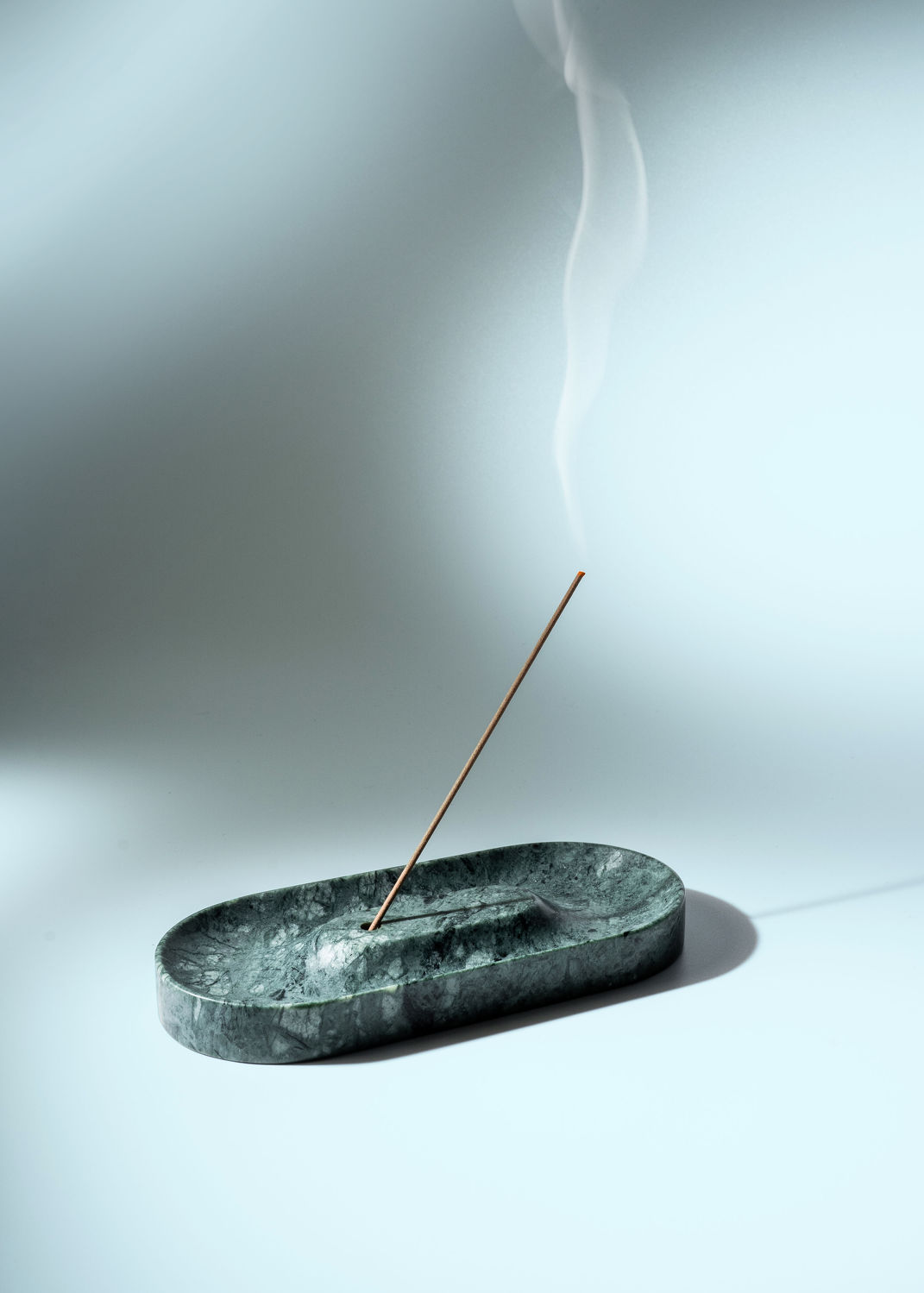 Essential Marble Incense Holder Rajasthan Emerald - THE EDGE SINGAPORE