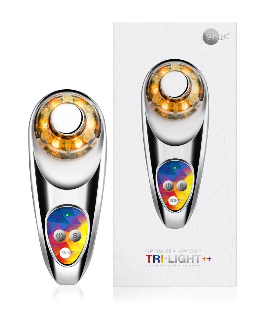 Skin Inc Optimizer Voyage Tri- Light++ USB Chrome Silver - THE EDGE SINGAPORE