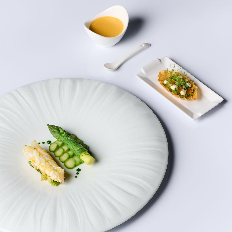 JAAN Langoustine Asparagus Set - THE EDGE SINGAPORE