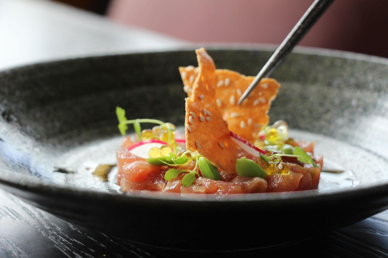 SKAI set lunch Chopped Tuna - THE EDGE SINGAPORE