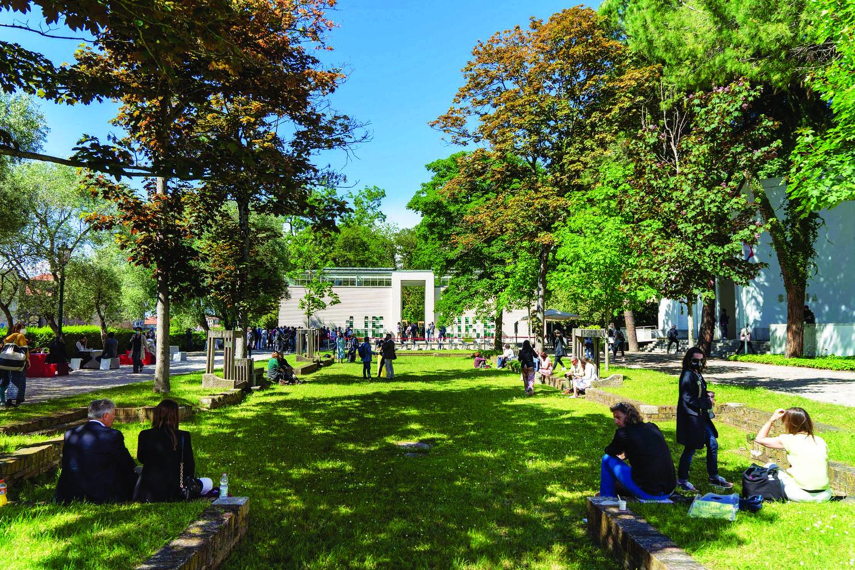 Visitors preview the Biennale near Austria s pavilion - THE EDGE SINGAPORE