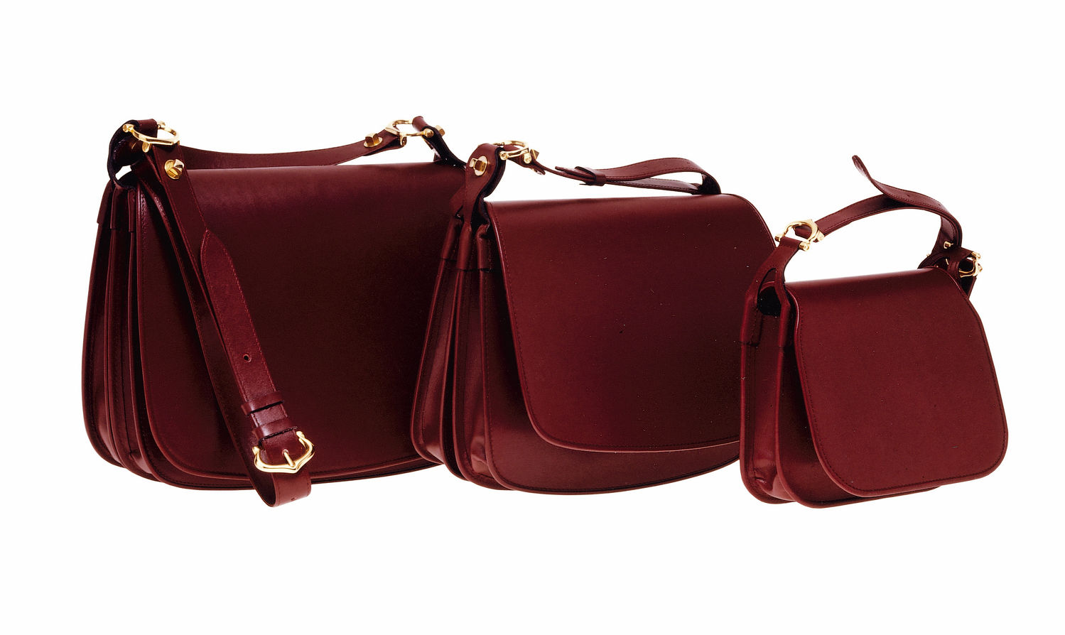 The Cartier Carnassière bag in Bordeaux-red leather