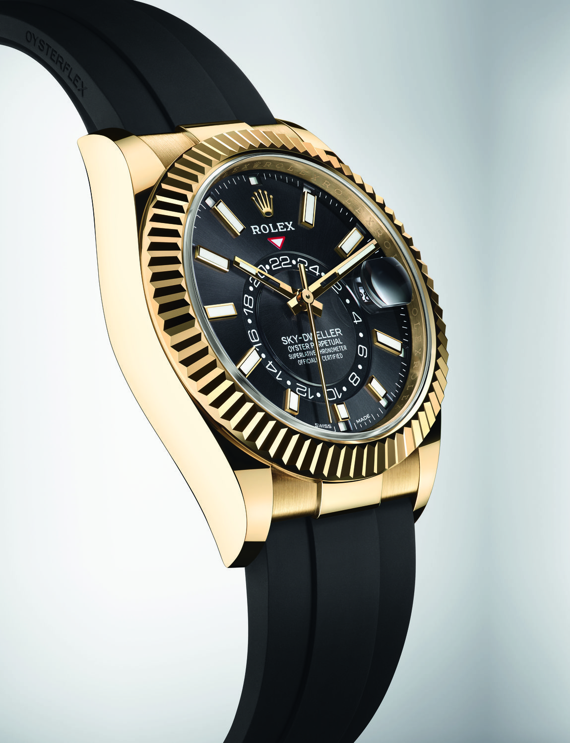 Oyster Perpetual Sky-Dweller in 18ct yellow gold - THE EDGE SINGAPORE